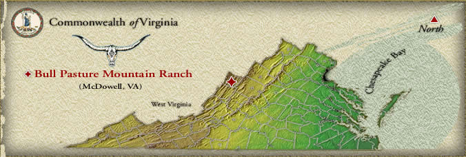 Bull Pasture Mountain Ranch Location